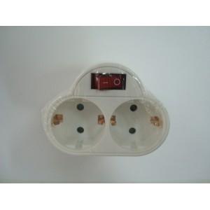 Triple 2 Tomas con Interruptor