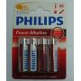 Pilas Alcalinas AA Philips LR6 1.5 V
